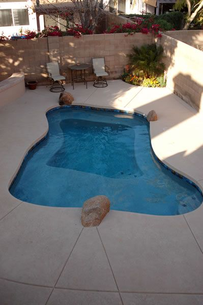 Tropical Garden Design Small Spaces Plunge Pool