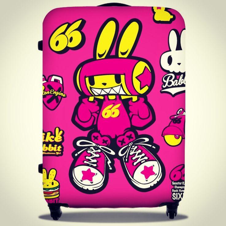 Bike rabbit 'babbit'  pelican suitcase sticker design. Designed by DOLDOL.  #Snowboard #skateboard #suitcase #longboard# #surf #서프 #바이크라빗 #rabbit #펠리칸  #스노우보드 #롱보드 #bike #오토바이 #케이스 #bag #pelican #graffiti #로고 #서핑 #돌돌디자인 #여행가방 #캐릭터 #shark #surfing #캐리어 #슈트케이스 #extreme #mtb #스티커 #camp