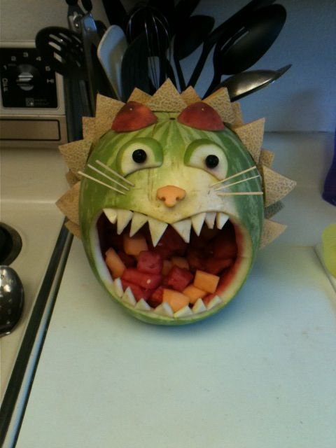 Lion watermelon animal pic only my creations