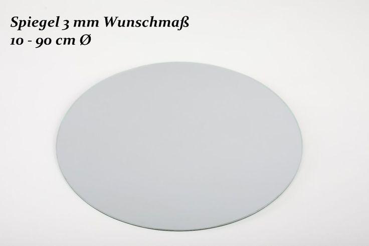 Spiegel Kreis 3 mm-Spiegelplatte-Tischdeko-Runder Spiegel-Spiegelfliesen-Gesäumt