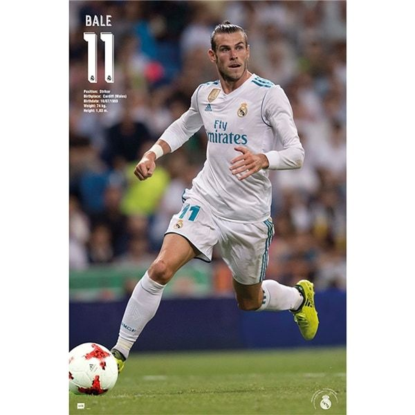 Real Madrid Gareth Bale 11 Poster 17/18