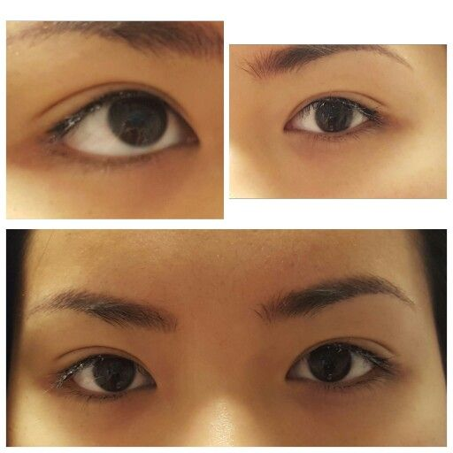 Permanent makeup eyes