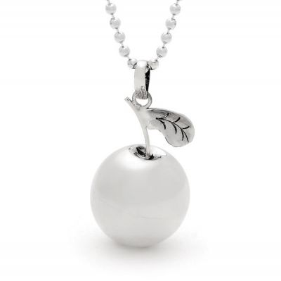 Harmony Ball - APPLE - Bella Donna Sterling Silver. Handmade in Bali, harmony balls contain tiny 'xylophones' that create soothing, magical sounds when shaken.
