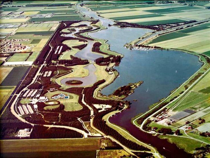 Rottermeren vroeger met het zwembad in Bleiswijk