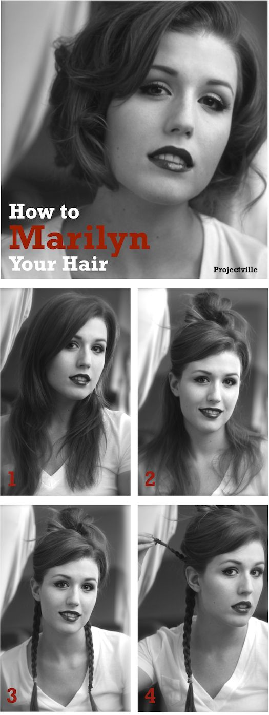 Marilyn your hair. I love her little flip with her bangs. definitely a must try. :)Projectville: Craft, DIY, Art, and Beauty: Beauty