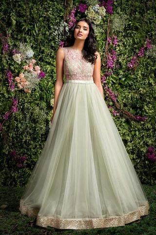 Indowestern Gown in net/ Prom dress