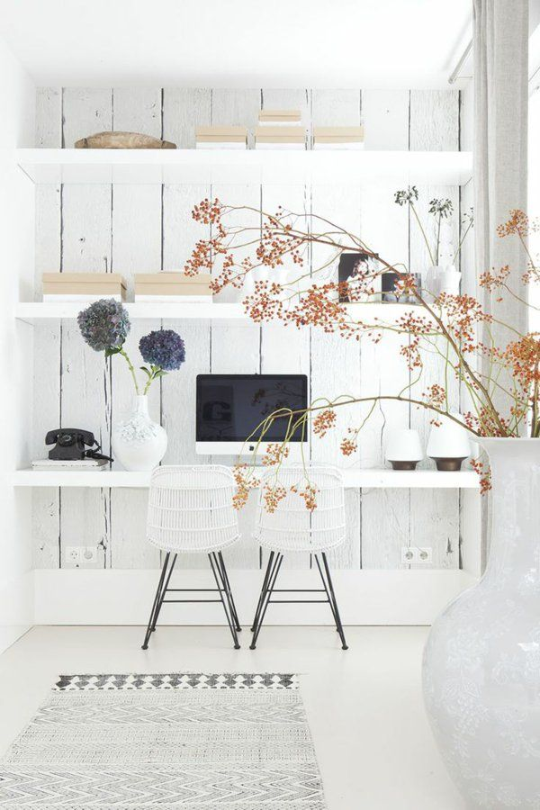 1000 id es sur le th me bureau blanc sur pinterest. Black Bedroom Furniture Sets. Home Design Ideas
