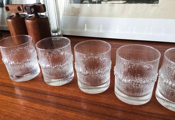 Rare Size and Set Wirkkala Iittala Glasses by CaribeCasualShop