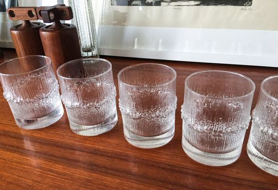 Rare Size and Set Wirkkala Iittala Glasses by CaribeCasualShop