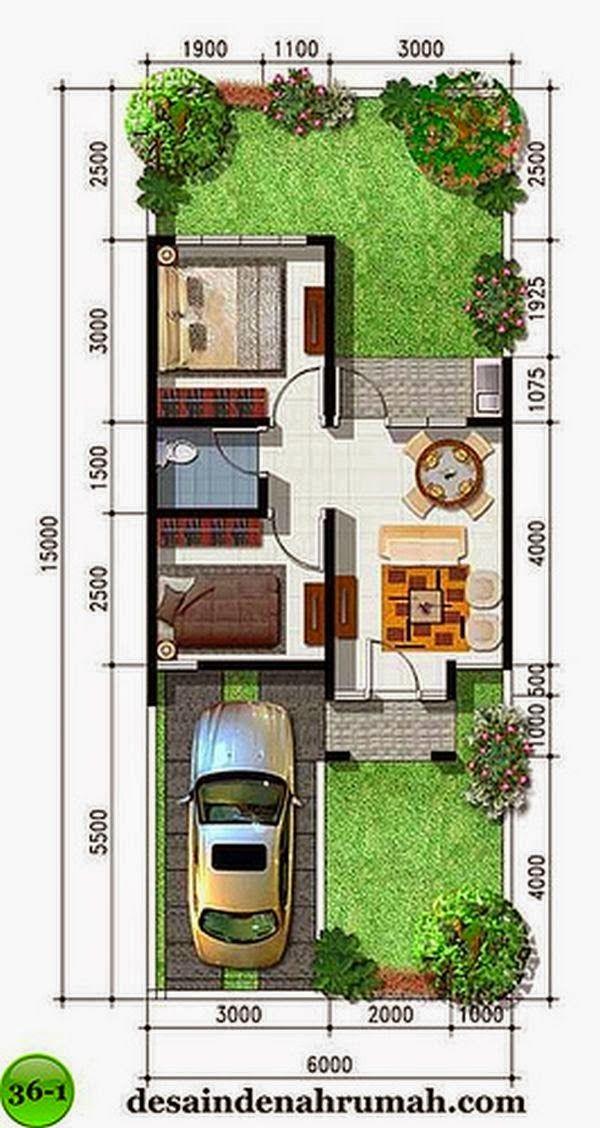 Desain Rumah Minimalis Type 36 Denah rumah, Desain rumah