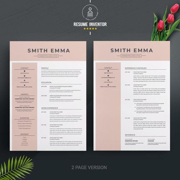 modern  u0026 professional resume template    cv template