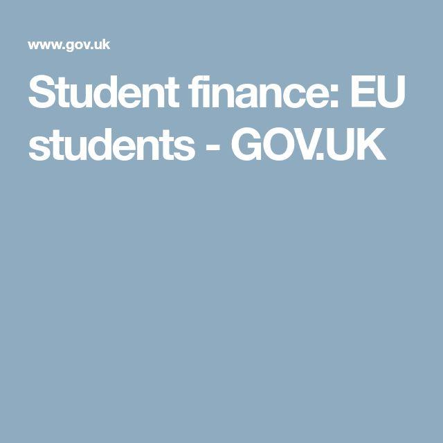 Student finance: EU students - GOV.UK