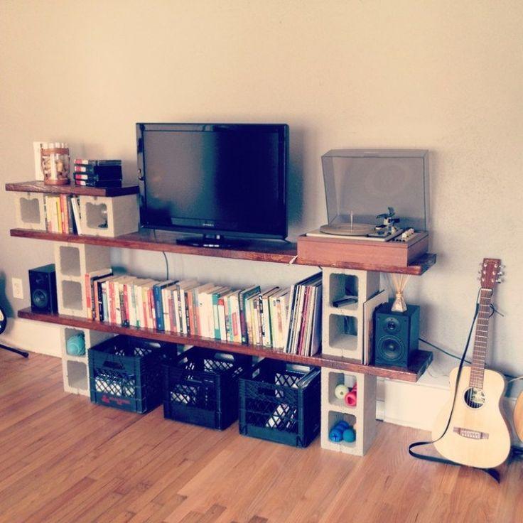 les 25 meilleures id es de la cat gorie parpaing sur pinterest peinture parpaing parpaings et. Black Bedroom Furniture Sets. Home Design Ideas