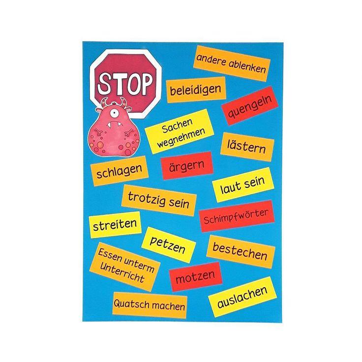 """Vor den Ferien haben wir noch einmal gesammelt, welche Verhaltensweisen in der Schule nicht erwünscht sind. So habe ich bei Störungen etwas """"auf der Hand"""" und auch die Kinder greifen das Plakat gerne auf, wenn sie sich gegenseitig zu besserem Verhalten auffordern. Gerade zum Schuljahresanfang oder bei der Einführung eines Belohnungssystems kann so ein Plakat recht hilfreich sein ☺ #grundschule #grundschulalltag #grundschulideen #grundschullehramt #classroommanagement #belohnungssystem…"""