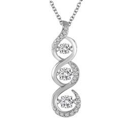 """Brand new """"dancing diamods"""" necklace from Steven Singer Jewelers. The diamonds move with any vibration...even your very own pulse."""