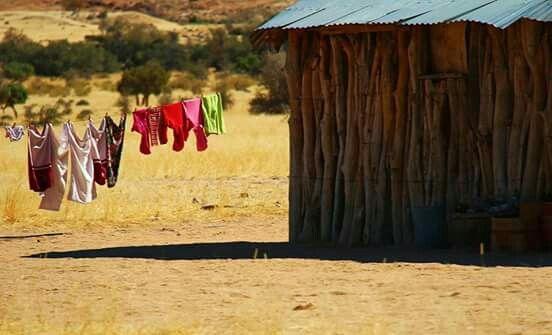 Laundry drying - Brandberg, Namibia