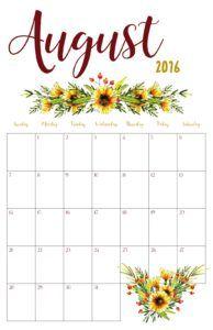 Free Printable   August 2016 Calendar   KeepingItCrafty.com