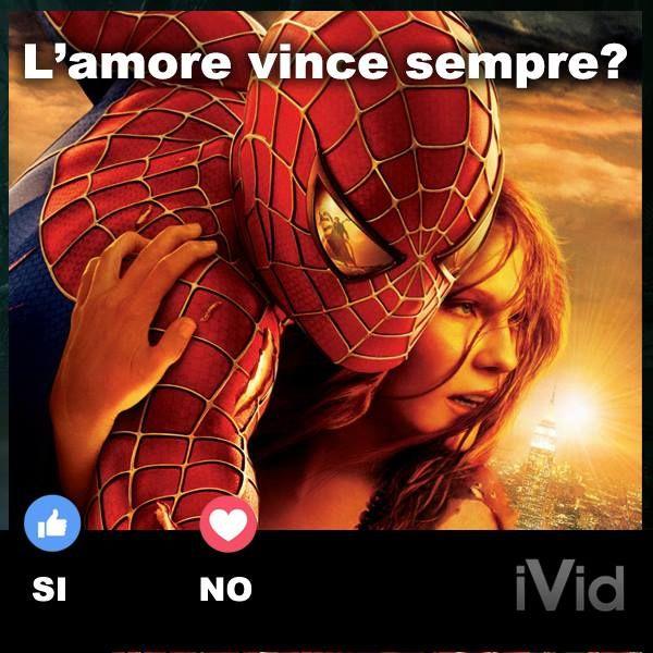 spiderman uomo ragno amore vince meme movies theatre video movie cinema film films videos actor actress dvd star moviestar hollywood cinemaitaliano goodmovie flick
