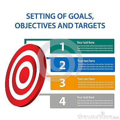 Setting of goals, objectives and targets, Vector illustration of infographic. EPS file available. see more images related