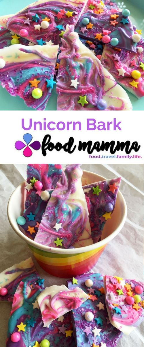 Unicorn Bark #unicorns #chocolate #colourful #kidsinthekitchen