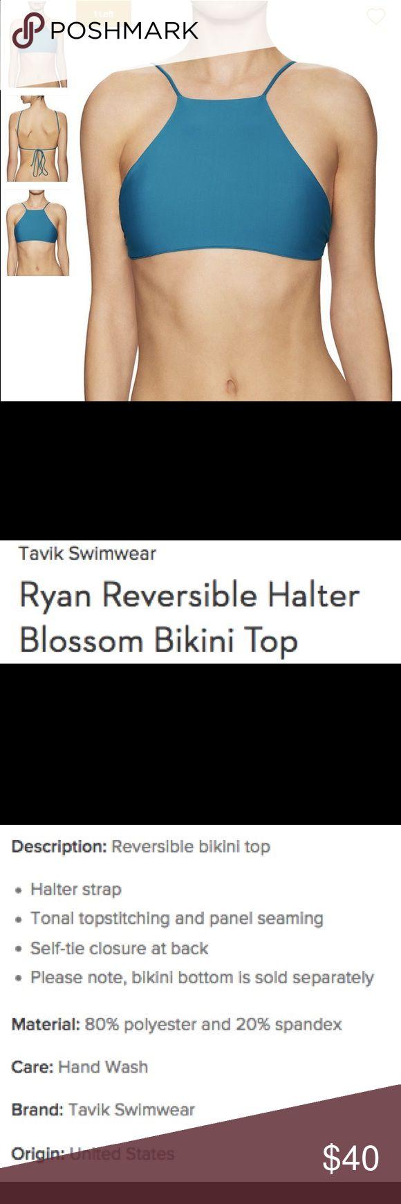 Tavik Reversible Halter Bikini Top Reversible bikini top, Tavik Swimwear. Harbor Blue Tavik Swim Bikinis