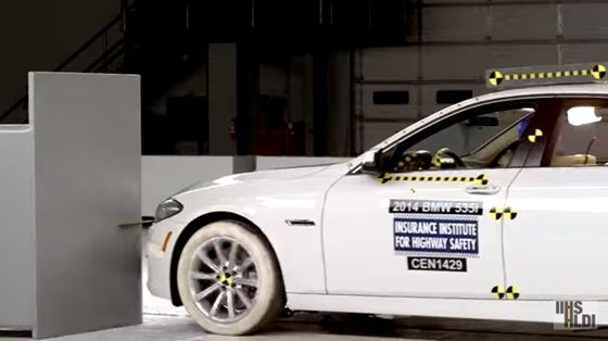 2014 BMW 5 serisi IIHS çarpışma testi