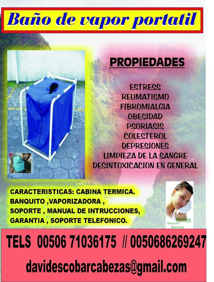 BAÑO DE VAPOR PERSONAL   CON VAPORIZADORA   BANQUITO   INSTRUCCIONES DE USO   300 DOLARES MAS GASTOS DE ENVIO   ENTREGA A DOMICILIO E...