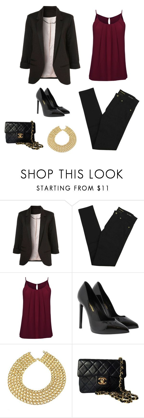 """Luxury style"" by monika1555 on Polyvore featuring Yves Saint Laurent and Chanel"