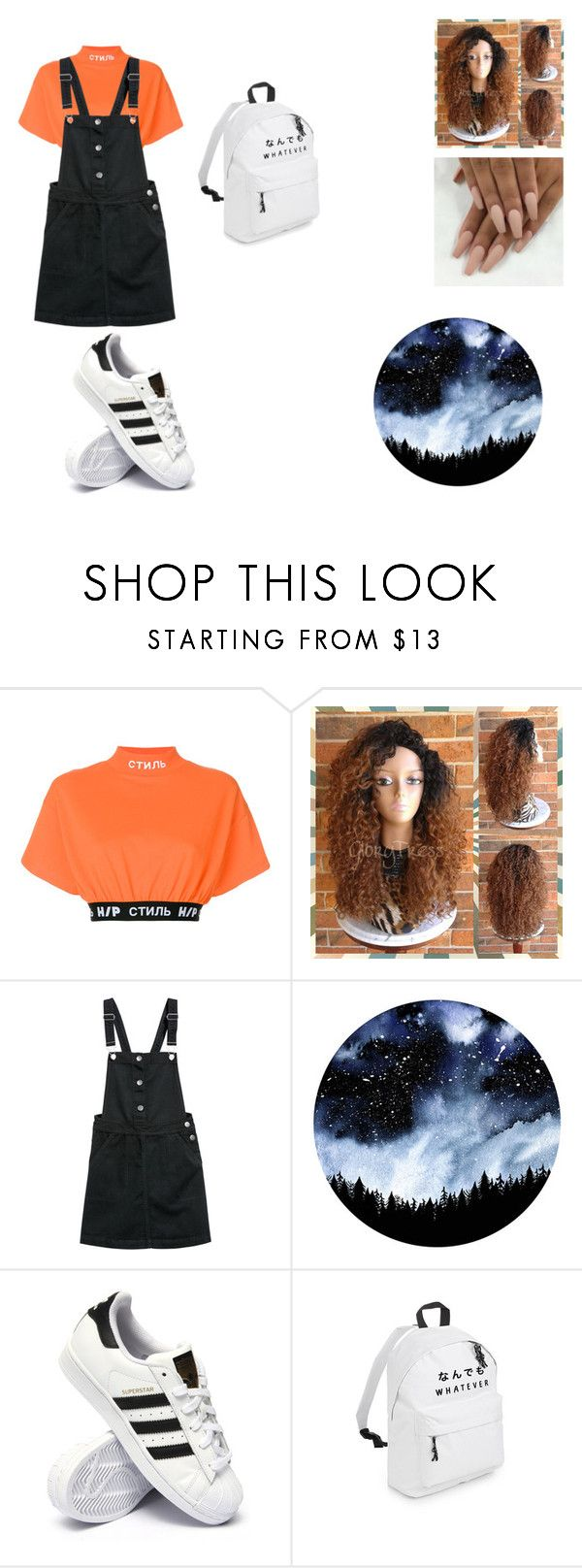 """8th grade Outfit"" by canye on Polyvore featuring Heron Preston and adidas"