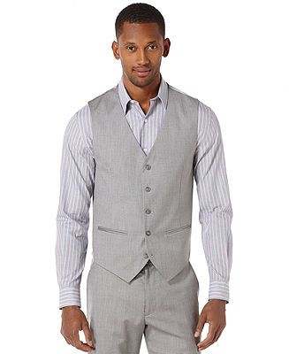 Perry Ellis Big and Tall Textured Vest - Suits & Suit Separates - Men - Macy's