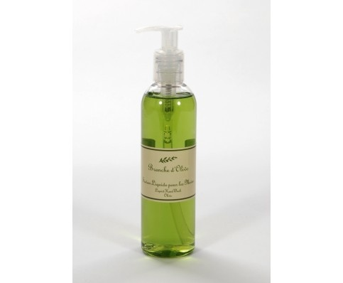 Olive hand wash from Branche D'Olive. Discovered this beautiful product at Raymond Blanc's Le Manoir. Your hands feel really soft and not at all dry afterwards.