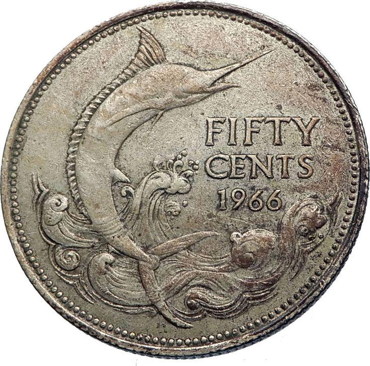 1966 bahamas 50 cent coin