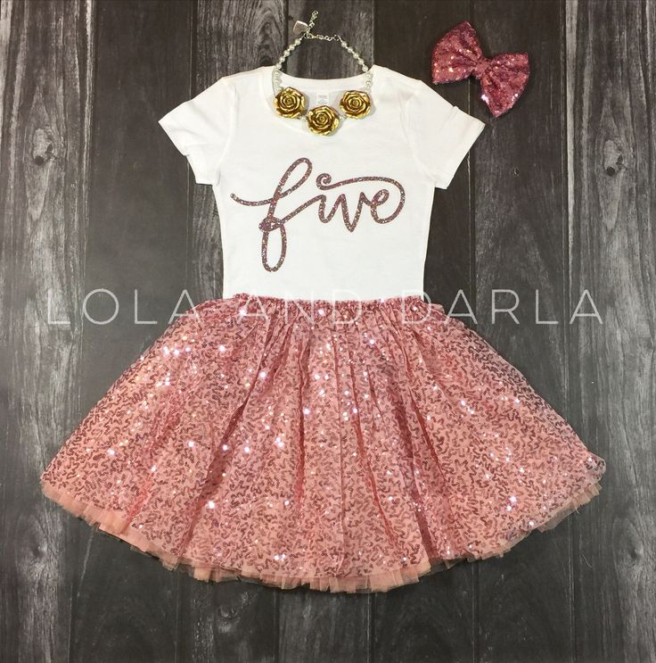 It only happens once a year! Celebrate her special day with Sparkle! Five shirt in pink confetti sparkle This listing is only for the t shirt. Available Sizes: 2T, 3T, 4T, XS4/5 SMALL 6/6x Toddler shi
