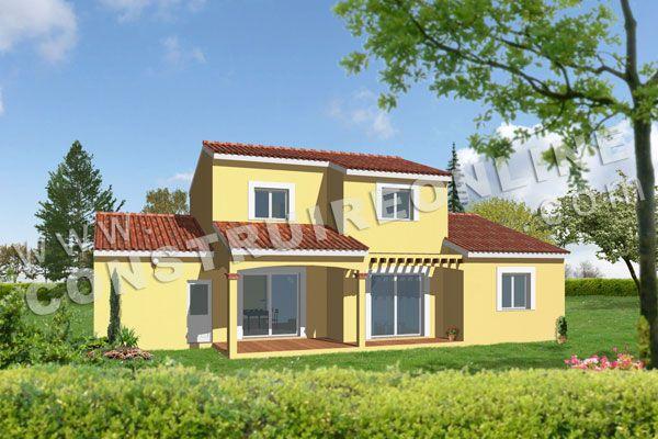 plan de maison a etage modele REGLISSE vue 3d