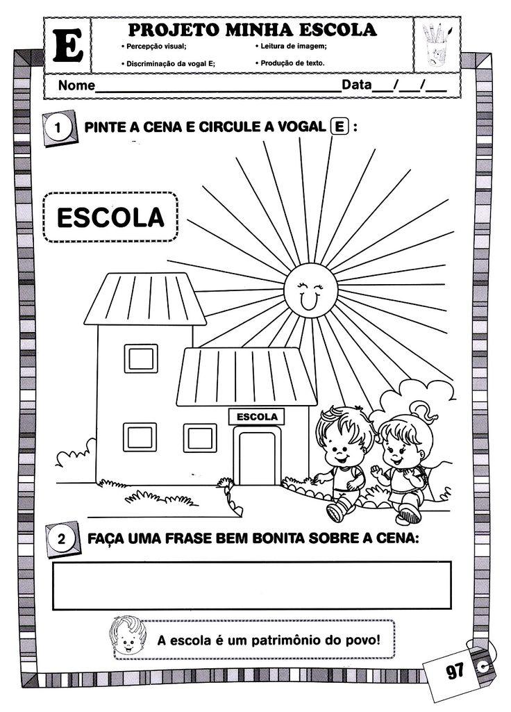 Blog Professor Zezinho : Atividades- Projeto A Minha Escola