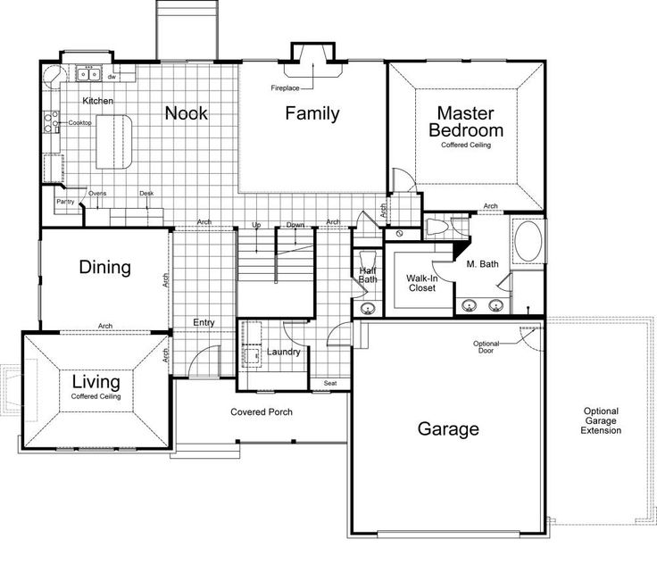Hampton Ivory Homes Floor Plan Main Level Ivory Homes