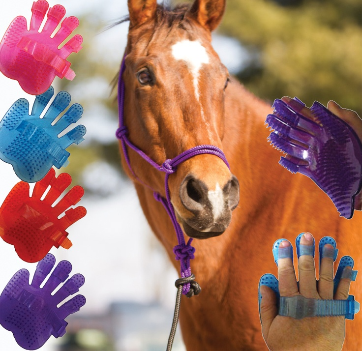COOL new horse grooming tool from Chick's! Flexible Fingers Hand Jelly Curry | ChickSaddlery.com