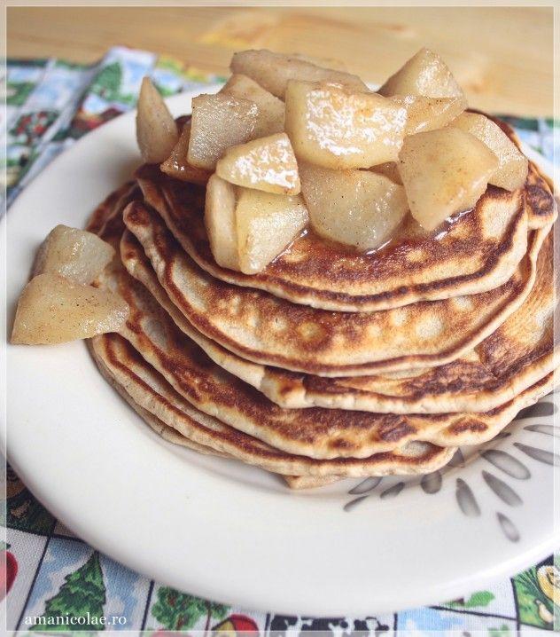 pancakes cu pere