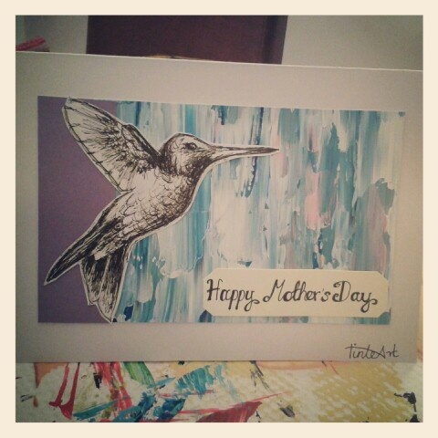 Humming bird mothers day card
