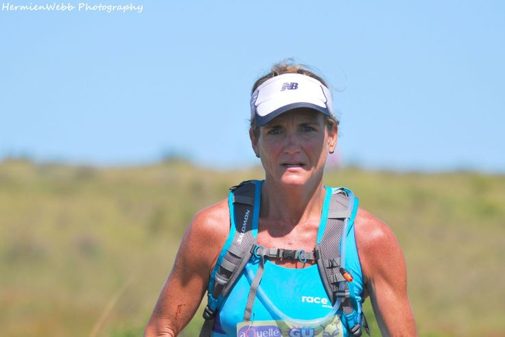 Tracy - on route to winning the SA Ultra Trail Champs at the Addo Elephant Trail Race in 2013...