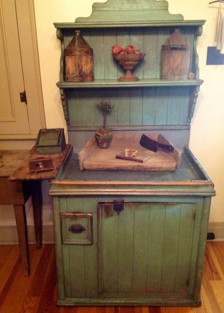Unusual dry sink in paint