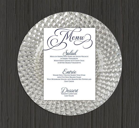 Dinner Party Menu Templates Free Download My Menus Musthavemenus