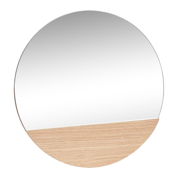 Round oak mirror. Unique interior design. Item number: 880417 - Designed by Hübsch