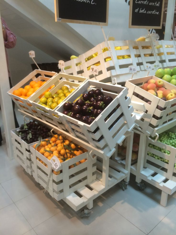 1000 ideas about produce displays on pinterest for Wholesale decor