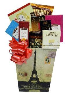 Snowflake Holiday Tower Gift Basket