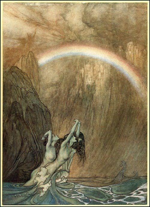 Arthur Rackham - Illustration to Richard Wagner's 'Das Rheingold'