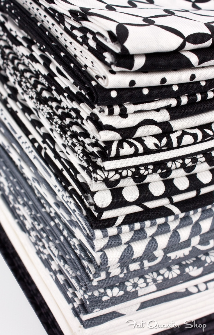 Shades of Black by Me and My Sister Designs for Moda Fabrics #black #white & #DRAMATIC