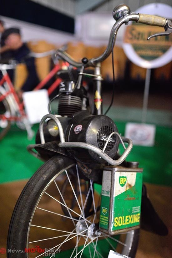 Velo Solex at the 2014 Cany Barville Vintage Motorcycle Exhibition