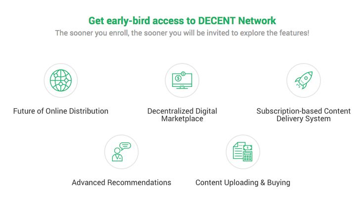 Why join DECENT testnet? Become a major part of a revolutionary distribution model. Try out our digital marketplace, upload your content, and more - Sign up now!