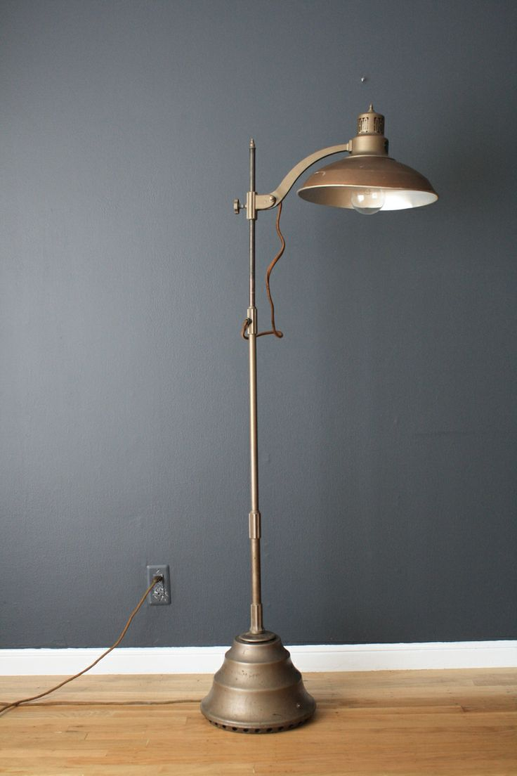 Vintage mid century general electric sun lamp mid for Antique floor lamp electrical parts
